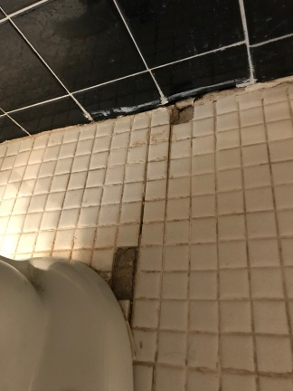 Loose tiles all over the place...